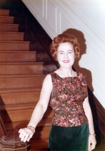 my mother at probably the opening of Rodman Hall, 1961